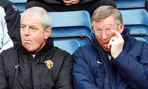 Sir Alex Ferguson and Walter Smith at Manchester United