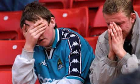 Manchester City fans in 1998