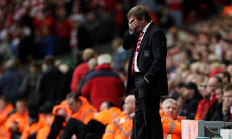 The Liverpool manager Kenny Dalglish