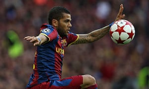 Dani Alves Barcelona Manchester United