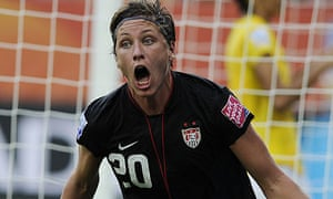 Abby Wambach celebrates after equalising for USA against Brazil