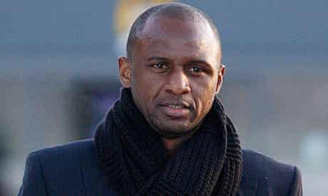 Patrick Vieira will help in the development of Manchester City's young players