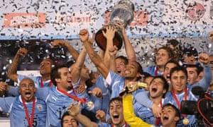 Uruguay celebrating