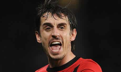 Gary Neville, the recently retired Manchester United defender