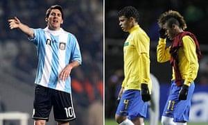Lionel Messi, Thiago Silva and Neymar