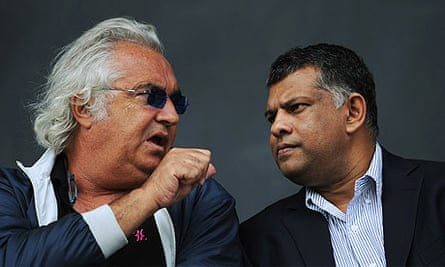 QPR co owner Flavio Briatore (left) and AirAsia owner Tony Fernandes