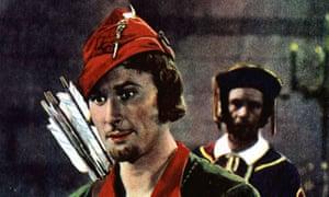 Errol Flynn in The Adventures of Robin Hood