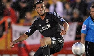 Liverpool's Andy Carroll in action against Exeter City