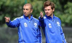 Roberto Di Matteo, left, and André Villas-Boas of Chelsea