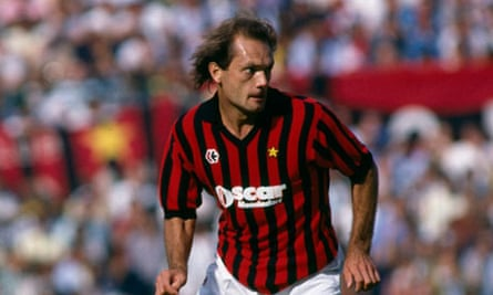Ray Wilkins playing for Milan