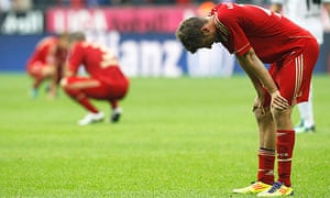 Dejection for Bayern's players