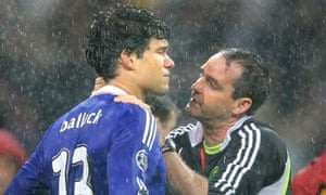 Chelsea's Michael Ballack is consoled after defeat to Man United in the Champions League final