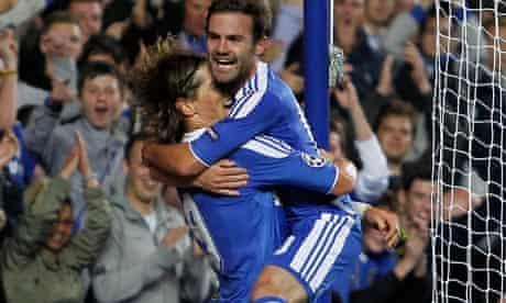 Fernando Torres, left, and Juan Mata