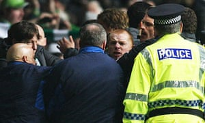 Neil Lennon goes face to face with Ally McCoist after Celtic beat Rangers 1-0  in March 2011