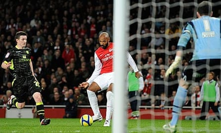 Thierry Henry shoots
