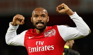 Arsenal's Thierry Henry celebrates at the final whistle