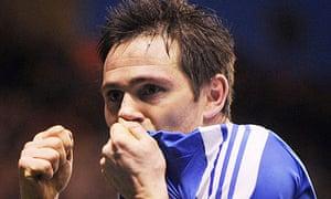 Frank Lampard celebrates