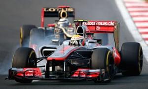 Lewis Hamilton in action at the Korean Grand Prix