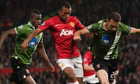 Nani action for Manchester United