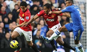 Antonio Valencia and Rafael da Silva, left, provided double trouble for Ashley Cole of Chelsea