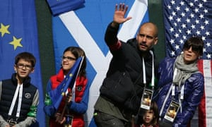 Pep Guardiola at the Ryder Cup