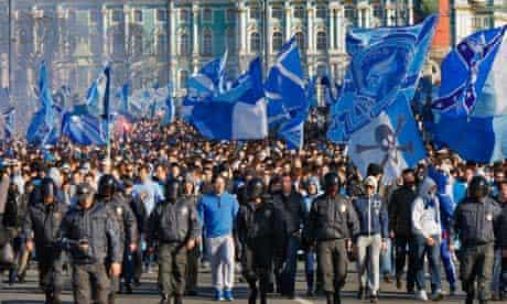 Zenit St Petersburg supporters