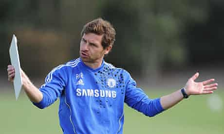 Chelsea's André Villas-Boas at the club's Cobham training ground