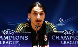 Zlatan Ibrahimovic fails to express a view on shillelagh control before Milan v Barcelona