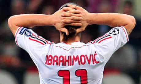 Zlatan Ibrahimovic of Milan