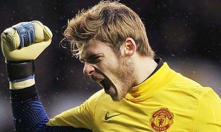 Manchester United's David de Gea celebrates