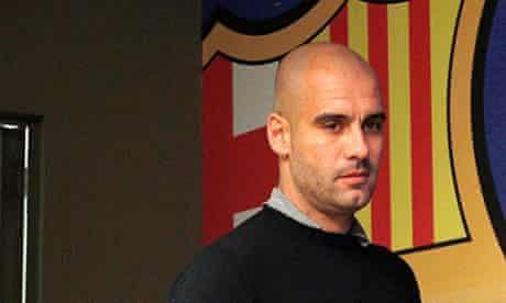 Barcelona's coach Pep Guardiola