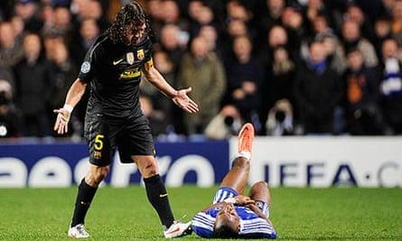 Didier Drogba in his natural habitat