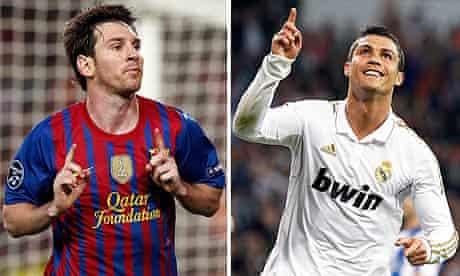 Barcelona's Lionel Messi and Real Madrid's Cristiano Ronaldo prepare to square off again