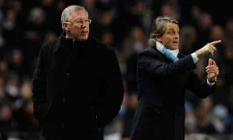 Roberto Mancini and Sir Alex Ferguson