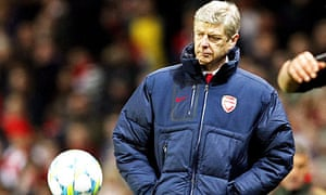 Arsene Wenger show's his frustration during Arsenal's 3-0 Champions League win against Milan