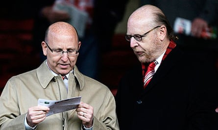 Manchester United owners Avram Glazer and Joel Glazer at Old Trafford in 2011