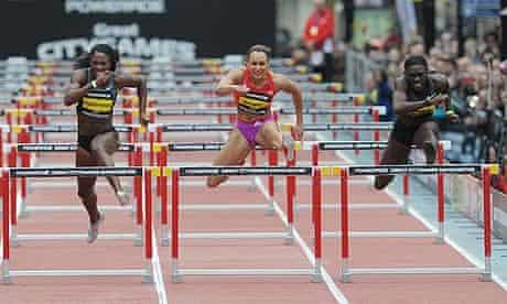 Jessica Ennis winning in Manchester