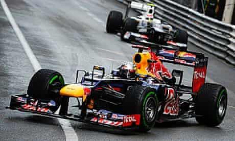 F1 driver Sebastian Vettel at the Monaco Grand Prix