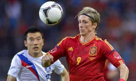 Fernando Torres in action for Spain