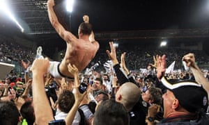 Juventus celebrate their title victory
