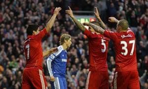 Daniel Agger Fernando Torres Liverpool Chelsea