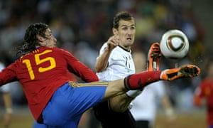 Miroslav Klose and Sergio Ramos