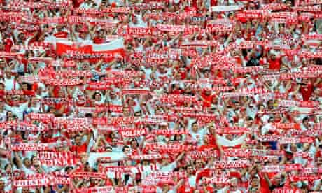 Poland fans during opening game against Greece