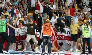 England fans at the game against England