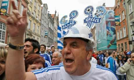 Greece supporters