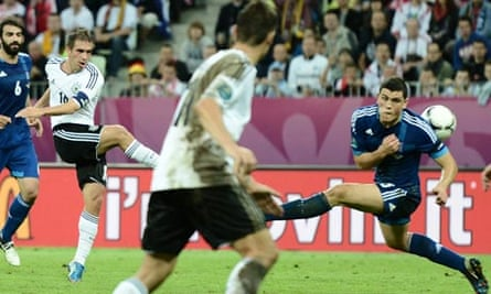 Philipp Lahm fires Germany ahead