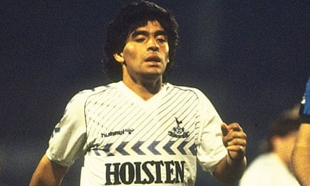 Diego Maradona At Spurs Triathlon Juggling And Elton Partridge Welsby Football The Guardian