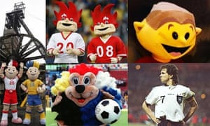 Euro mascots through the ages