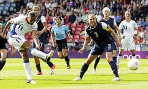 London 2012: France's Marie-Laure Delie scores in her team's 4-2 Olympic defeat against the USA