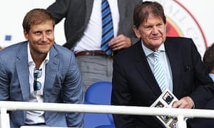 Reading's new owner, Anton Zingarevich, left, and Sir John Madejski, who sold the club for £25m.